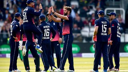 Liam Plunkett and Joe Root picked up three wickets each as Ireland was dismissed for 243, 85 runs short.
