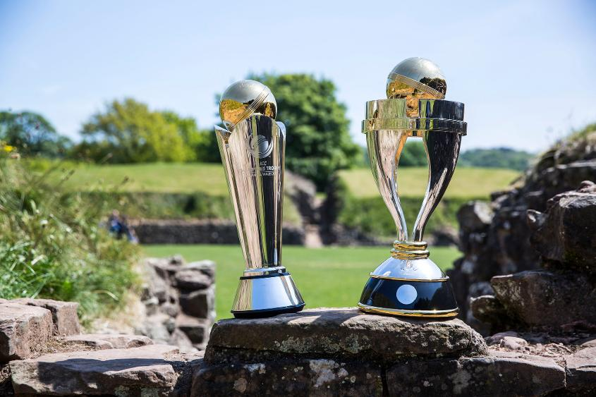 ICC Champions Trophy along with that of the ICC Women's World Cup visited Caldicot Castle and Caerleon Amphitheatre