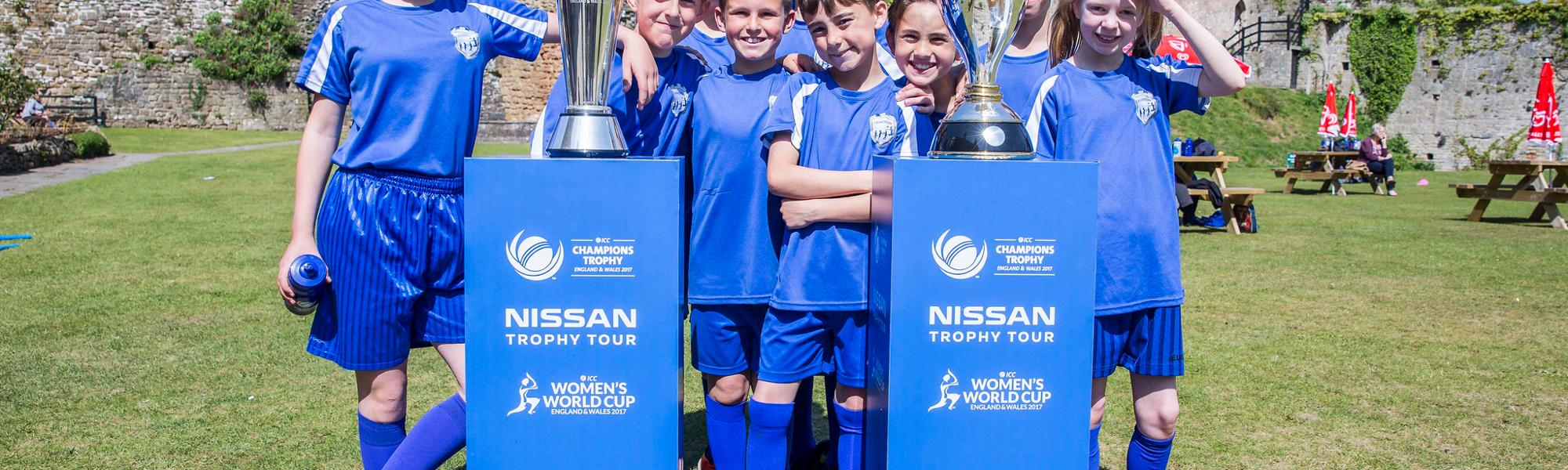 Nissan Trophy Tour takes cricket to the castles of South Wales