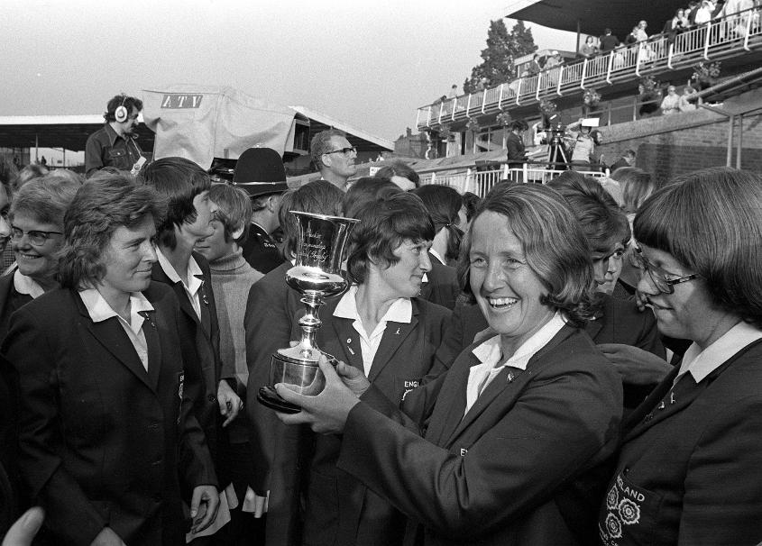 Rachael Heyhoe-Flint's side lifted cricket's very first limited-overs worldwide trophy