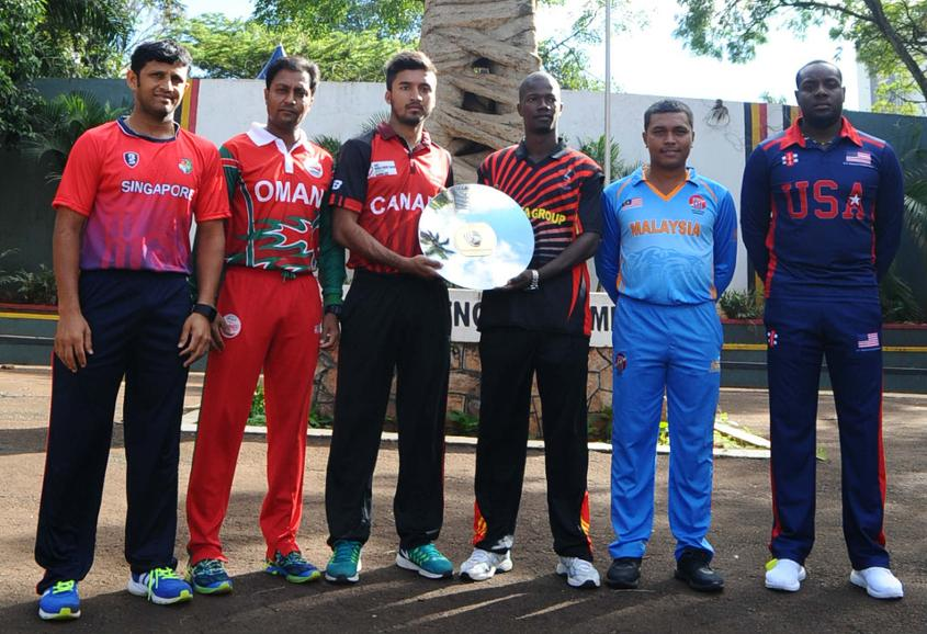 ICC World Cricket League Division 3 Captains Trophy Shoot held at the Independence Monument in Kampala