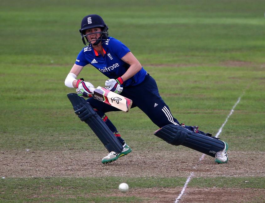 England's Lydia Greenway was an ICC Women's World Cup winner in 2009.