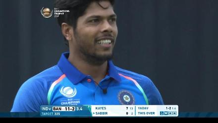 #CT17 Warm-up: Umesh Yadav 3-16