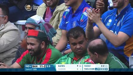 #CT17 Warm-Up: Sabbir Rahman wicket