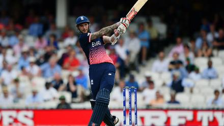 In face of accurate bowling, Alex Hales scored a measured fifty to rally England onward