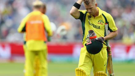 Australia lost David Warner early in the chase, who fell to Trent Boult for 18