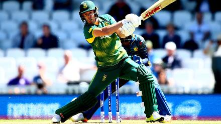 It was a rare failure for AB de Villiers who was dismissed by Seekkuge Prasanna for 4