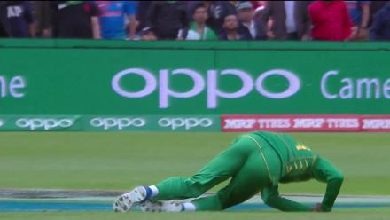 DROPPED: Virat Kohli survives as Fahim Ashraf misjudges the catch