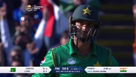 WICKET: Imad is dismissed by Pandya for 0