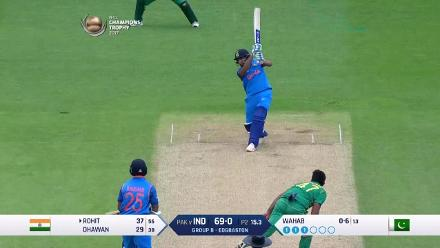 FIFTY: Rohit Sharma brings up his half-century for India