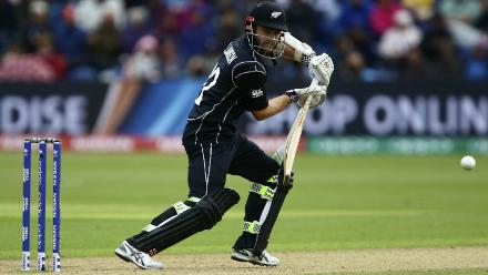 With Ronchi out for a duck and Guptill falling for 27, it was another Kane Williamson special as the skipper led from the front with a fluent 98-ball 87 before being dismissed by Mark Wood.