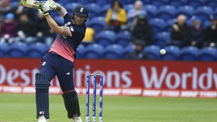 Ben Stokes chipped in with a 53-ball 48 soon after Morgan's fall and had a 54-run stand with Joe Root for the fourth wicket before being caught by Milne off Trent Boult.