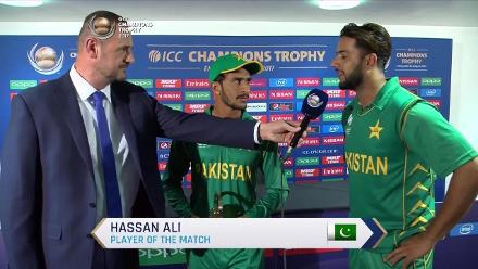#CT17 PAK vs SA: Player of the Match - Hasan Ali