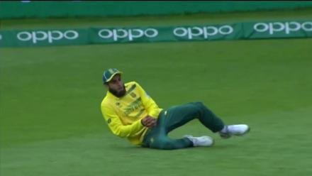 Hafeez wicket
