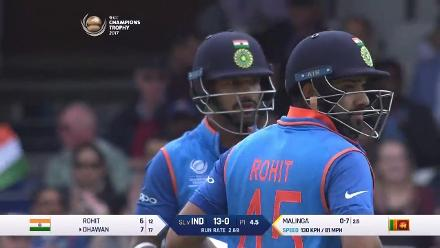 PARTNERSHIP: 50-run partnership between Rohit and Dhawan