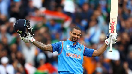 Shikhar Dhawan scored a fine hundred which set India on the path towards 300 and above before falling for 128.