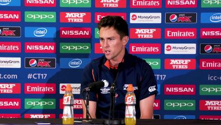 #CT17 NZ v BAN - Trent Boult pre-match press conference