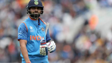 After Rohit's dismissal for a fine 78 ending a 138-run opening stand, Virat Kohli fell for a five-ball duck to Nuwan Pradeep.