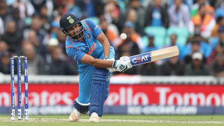 Rohit Sharma brought up his half-century with a six off his 58th delivery.
