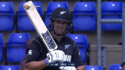 FIFTY: Ross Taylor brings up his half-century for New Zealand