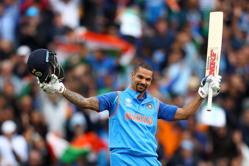 Shikhar Dhawan boasts an overall ICC Champions Trophy average of 92.66.