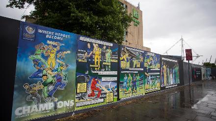#CT17 superhero-inspired mural in Cardiff