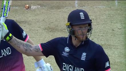 FIFTY: Ben Stokes reaches his half-century off 39 balls