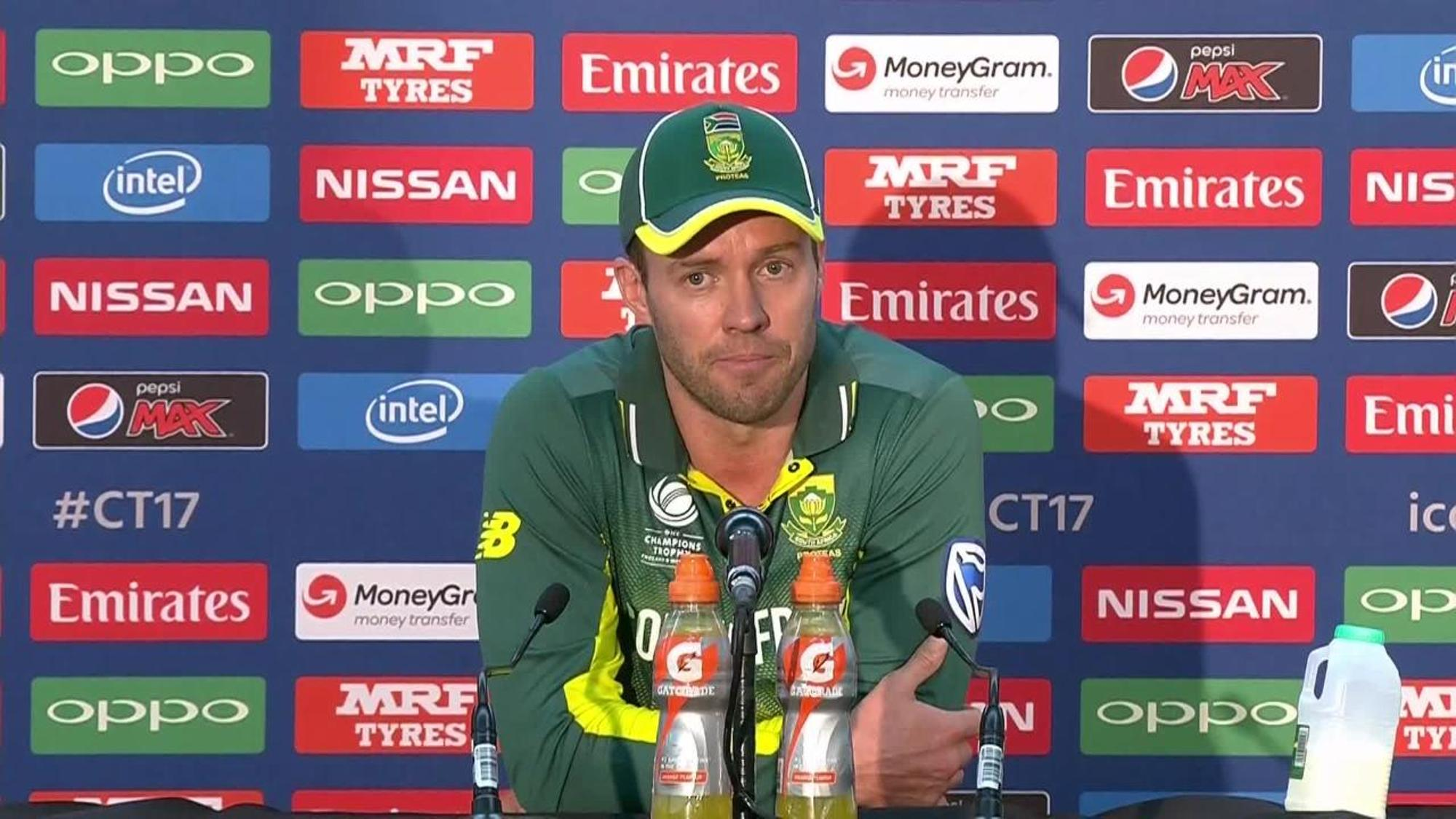 #CT17 IND v SA - AB de Villiers Post-Match Press Conference