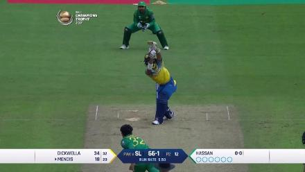 WICKET: Kusal Mendis is dismissed by Hassan Ali for 27