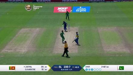 WICKET: Lakmal falls to Hassan for 26
