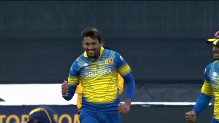 WICKET: Azhar falls to Lakmal for 34