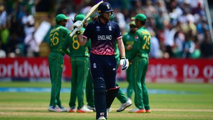 Ben Stokes played an uncharacteristic innings of 34 in 64 deliveries without a boundary, as England crumbled to 211 allout in 49.5 overs.