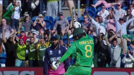 Pakistan's winning moment in the 2017 Champions Trophy semi-final