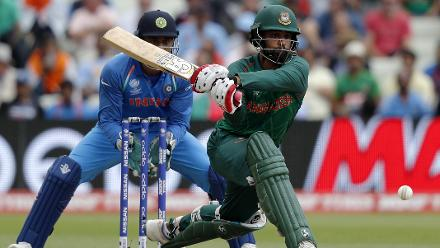 Tamim Iqbal rode his luck, scoring a fighting 70 in 82 deliveries stitching a crucial 123-run stand with Mushfiqur Rahim (61 )for the fourth wicket.