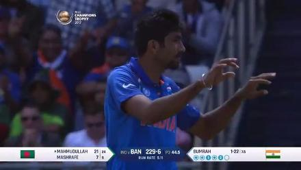 Bumrah yorker delivery