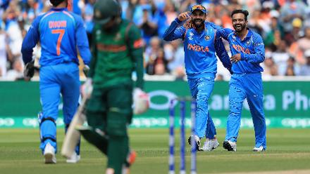 But Kedar Jadhav, the surprise package of the day snaffled both of them up in quick succession to stall Bangladesh's progress.