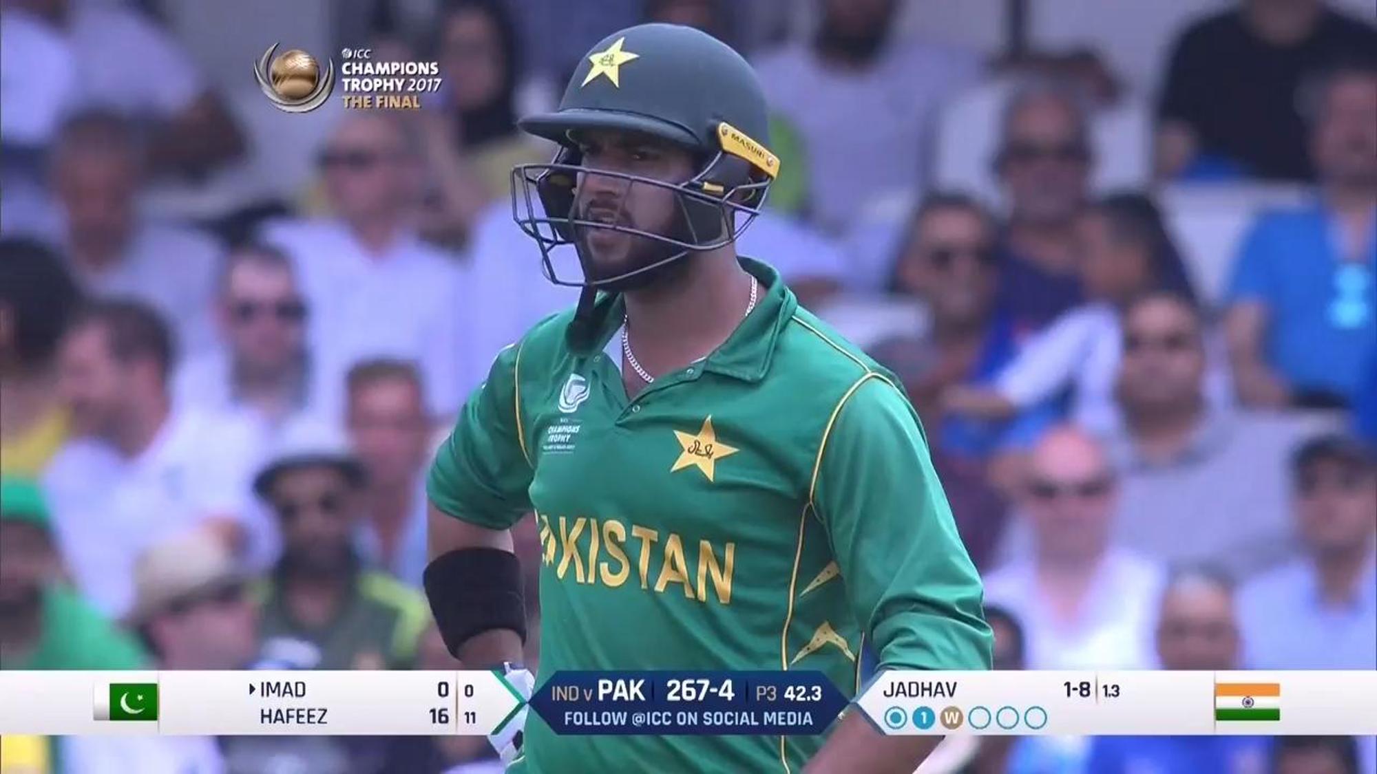 #CT17 Final - Pak v Ind: Imad Wasim innings
