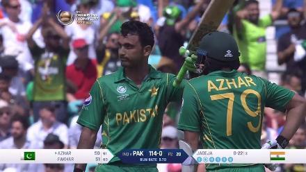 CENTURY: Fakhar Zaman scores his maiden ODI century