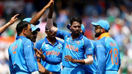 Hardik Pandya provided the much needed breakthrough dismissing Zaman, with Ravindra Jadeja completing an excellent catch running backwards.