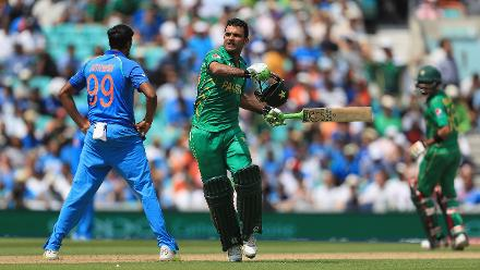 Fakhar Zaman rode his luck initially, but went on to score his first century in International cricket smashing 114 in 106 deliveries studded with 12 fours and a six.
