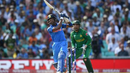 Hardik Pandya was at his brutal best, as he smashed a blistering 43-ball 76 studded with four fours and six sixes, before a massive mix-up with Ravindra Jadeja ended his innings.