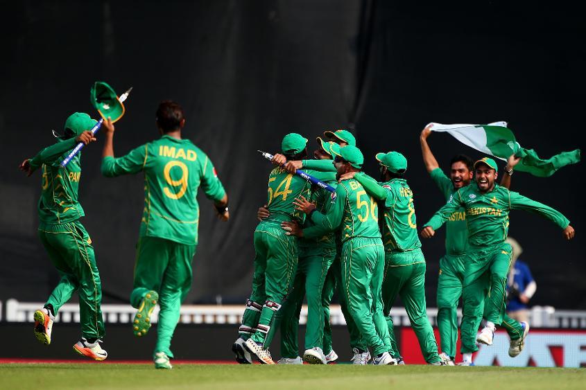 Pakistan celebrating