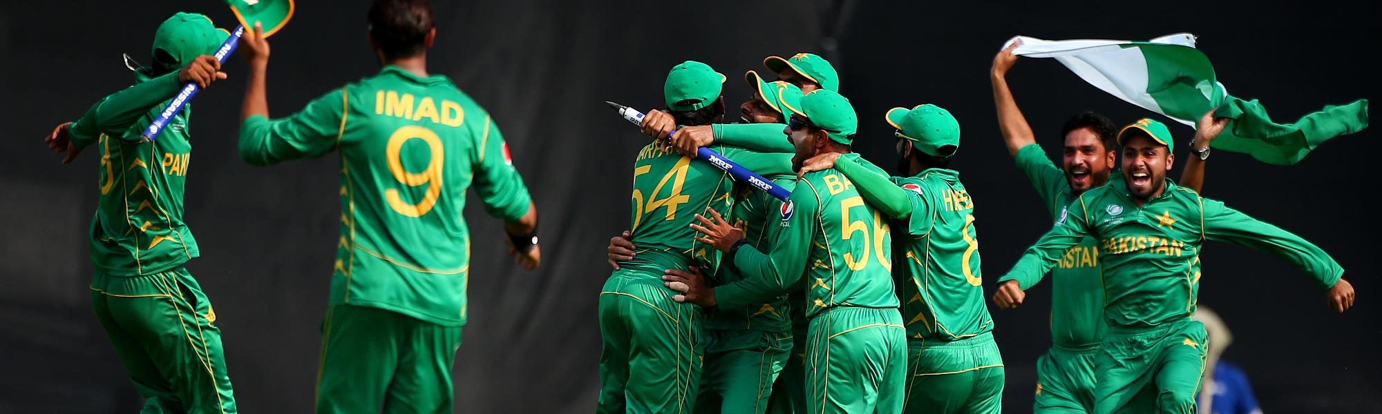 Pakistan celebrating