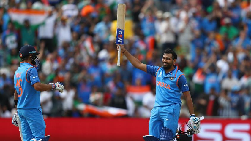 Rohit Sharma, who scored 123 not out in the semifinal, has gained three slots to reach 10th position.