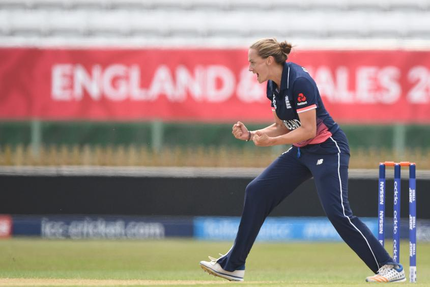 Laura Marsh took 3 for 7 as England beat New Zealand by seven wickets in their second WWC17 warm-up match