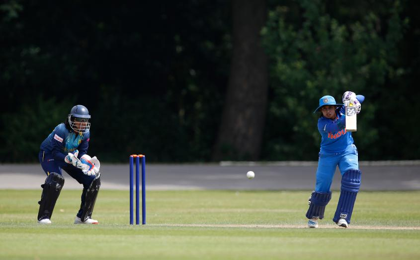 Mithali Raj scored an unbeaten half-century as India beat Sri Lanka by 106 runs in their second WWC17 warm-up match