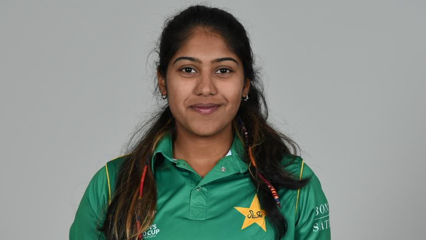 Ayesha Zafar made her debut at age 20, but really shone at the Women's World Cup Qualifiers.