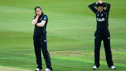 Holly Huddleston had a few close calls go against her initially but struck with 5 for 35 in her 10 overs to restrict Sri Lanka to 188 for 9 after they were cruising at 141 for 1 at one stage.