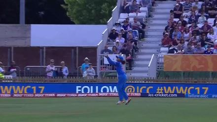 WICKET: Sarah Taylor is dismissed by Shikha Pandey for 22