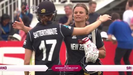 WINNING MOMENT: Suzie Bates registers her eighth ODI ton, as New Zealand cruise past Sri Lanka by nine wickets